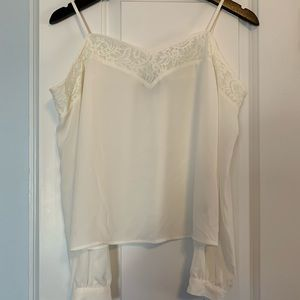 Express white/ivory blouse